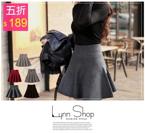[全店免運,滿700現折$100]   甜美波浪高腰針織短裙- 5色【03110044】