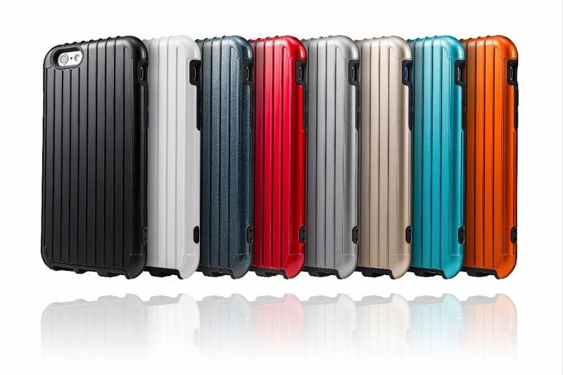 日本 GRAMAS 行李箱造型背蓋 APPLE IPhone 6 Plus/6S Plus 5.5吋/手機背蓋/保護殼/手機殼【馬尼行動通訊】