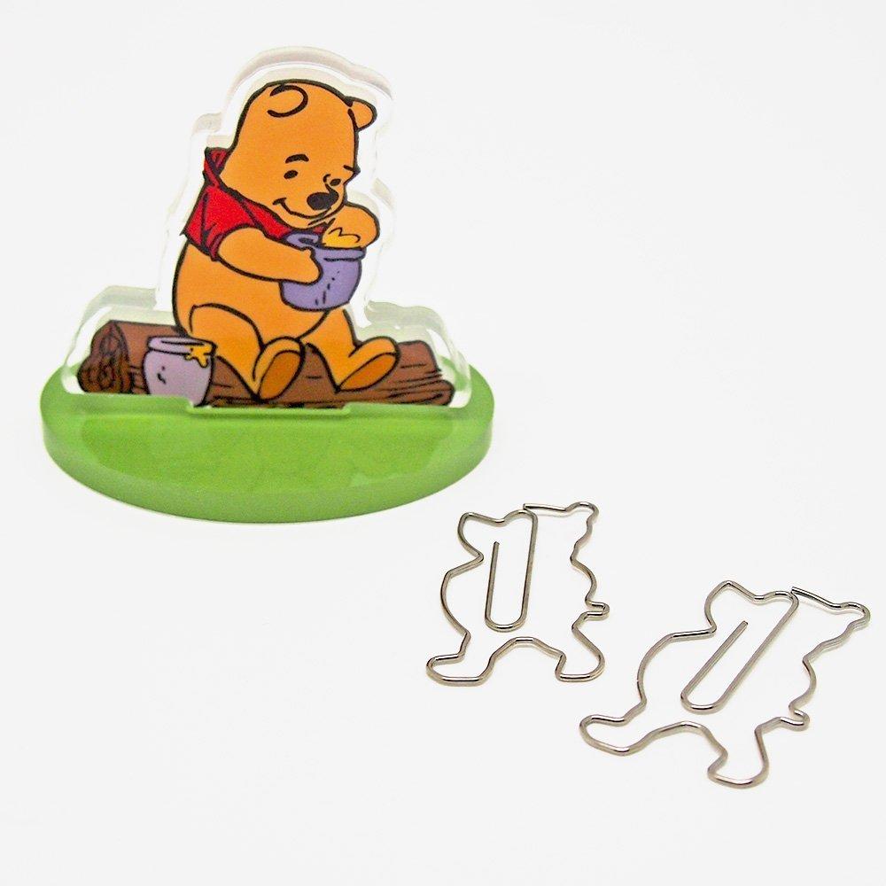 【真愛日本】16051300010迴紋針收納磁鐵立牌-維尼    迪士尼 小熊維尼 POOH 維尼熊  收納筒 收納 文具