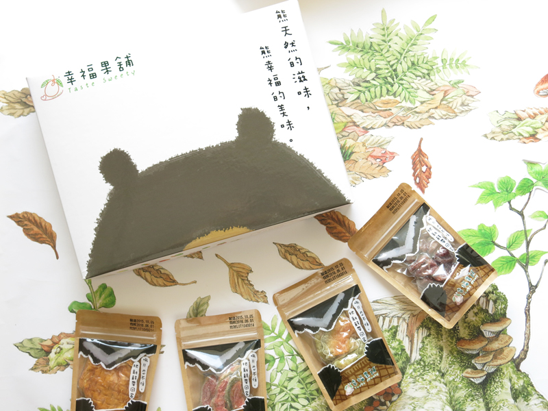 幸福果舖-水果乾黑熊禮盒M1款(每盒約140g,4種口味芒果乾、草莓乾、芭樂乾、哈密瓜乾)