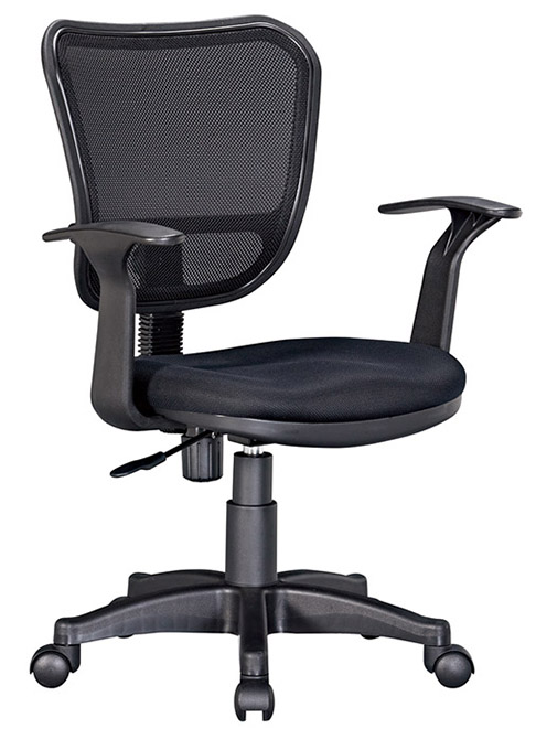 【尚品傢俱】HY-A501-06 瓦特黑色辦公椅(有扶手)