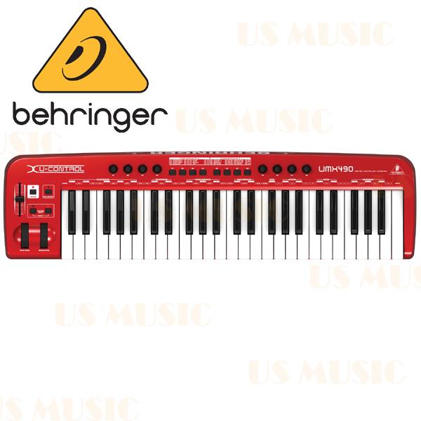 【非凡樂器】『Behringer UMX490 49鍵 USB 主控鍵盤』 控制鍵盤 Keyboard Controller UMX-490