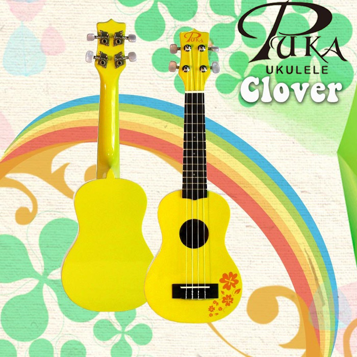 【非凡樂器】『PUKA PK-CS』黃色幸運草系列 21吋烏克麗麗/高品質沙比利木/贈送調音器