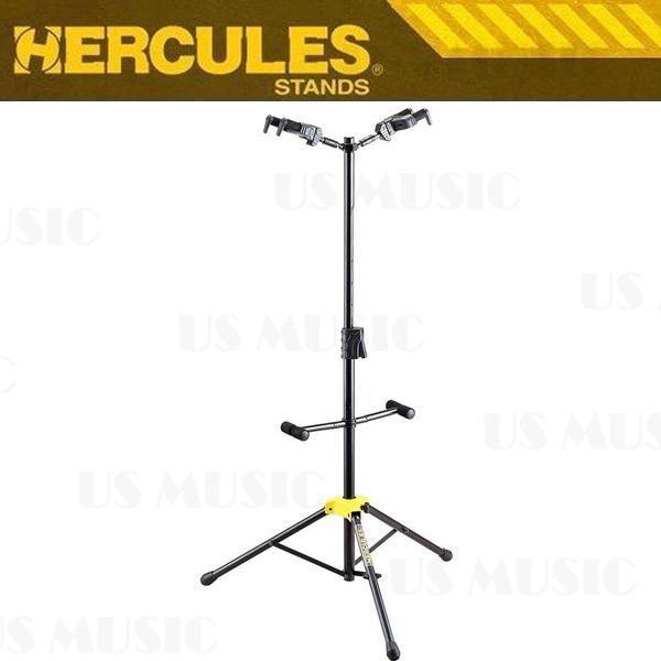 【非凡樂器】『HERCULES 海克力斯 GS422B GS-422B』頂背式雙支吉他架 創新的重力自鎖AGS系統