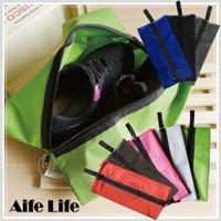 【aife life】長型鞋子收納袋/鞋子收納包 鞋袋 旅行鞋袋 沙灘收納袋