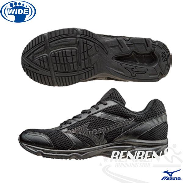 MIZUNO 美津濃 全黑慢跑鞋MAXIMIZER 18 寬楦慢跑鞋(黑)學生軍警公教 男女適用