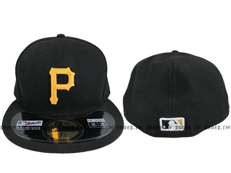 Shoestw【5711346-013】MLB 美國大聯盟 NEW ERA 球員帽 海盜隊 黑色