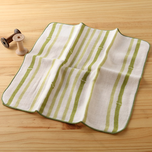 taoru 日本毛巾 和心傳_竹林 25*25 cm (仕女手巾、紗布巾)