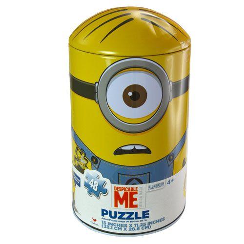 《 小小兵 》 小小兵造型鐵罐拼圖