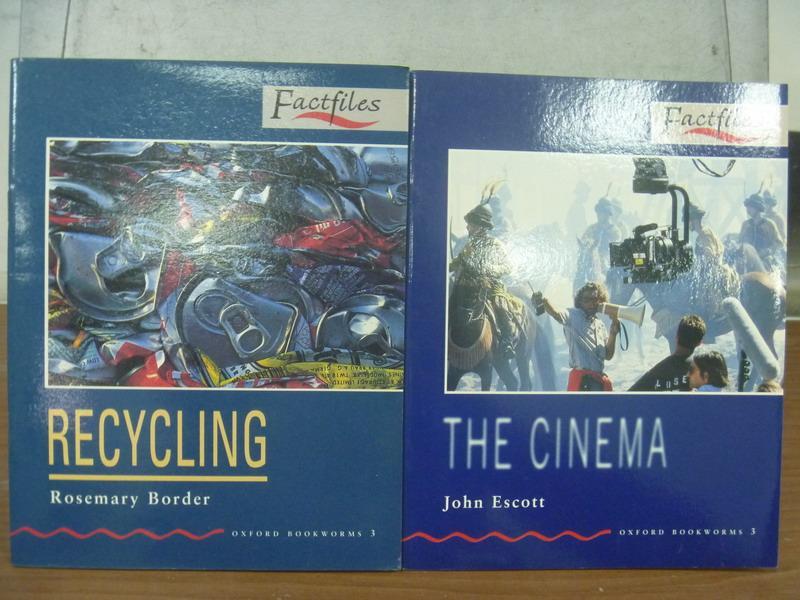 【書寶二手書T7/語言學習_MFQ】Recyling_The Cinema_2本合售