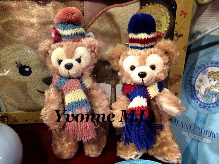*Yvonne MJA日本代購*東京迪士尼海洋樂園限定正品Duffy達菲熊雪莉玫限定圍巾造型款吊飾