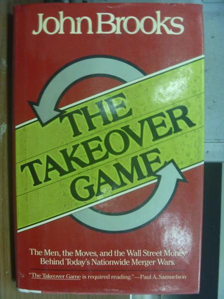 【書寶二手書T1/原文小說_PFX】The Takeover game_John Brooks