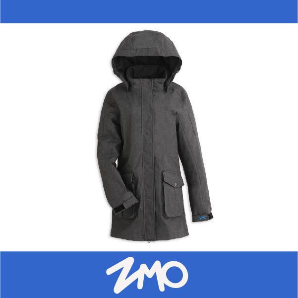 萬特戶外運動 ZMO JG360-BK 女防風雨風衣外套-長版大衣 防水 防風 黑色