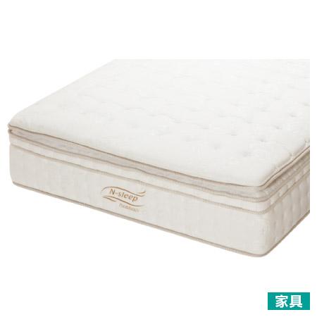 ◎羽毛填充 低反發夾層 雙層獨立筒雙人床墊 N-SLEEP P4 D TW