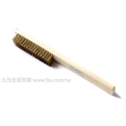 【九元生活百貨】木柄鍍銅鋼絲刷 鋼刷