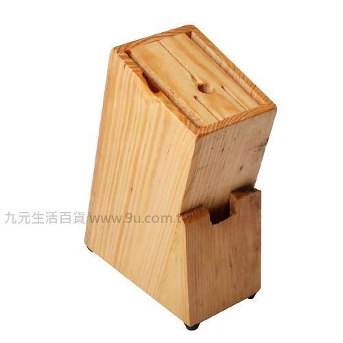 【九元生活百貨】碳化木菜刀架 菜刀架