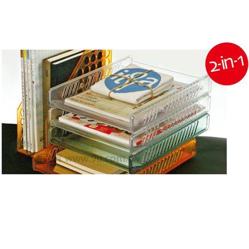 【九元生活百貨】佳斯捷 8012 奇登二層活動公文架 置物籃 文書架