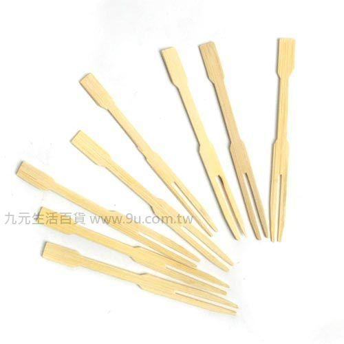 【九元生活百貨】50入竹製水果叉 水果叉