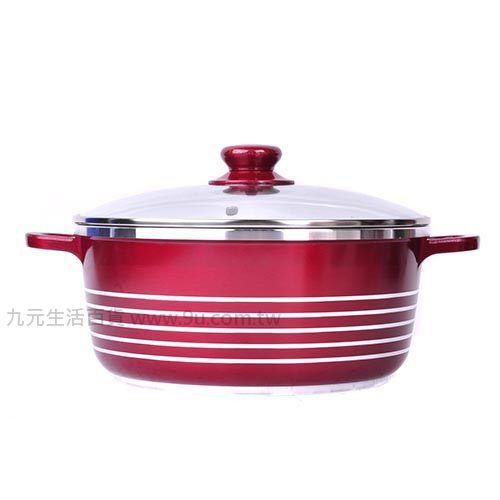 【九元生活百貨】御膳坊24cm薔薇陶瓷全能鍋(附玻璃鍋蓋) 湯鍋 陶瓷鍋