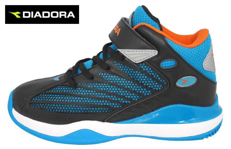 【巷子屋】義大利國寶鞋-DIADORA迪亞多納 童款KPU立體康特杯全方位籃球鞋 [3536] 藍 超值價$826