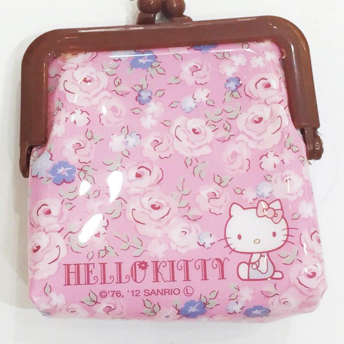Hello Kitty 零錢包 收納包 置物包 玫瑰 文具 39元 正版日本進口 * JustGirl *