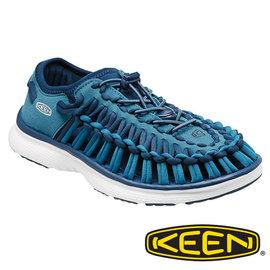 Keen UNEEK O2女拉繩涼鞋- 墨水藍/白 1015574
