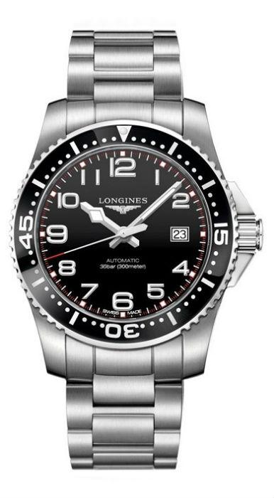 LONGINES L36944536深海征服者潛水機械腕錶/黑面黑圈39mm