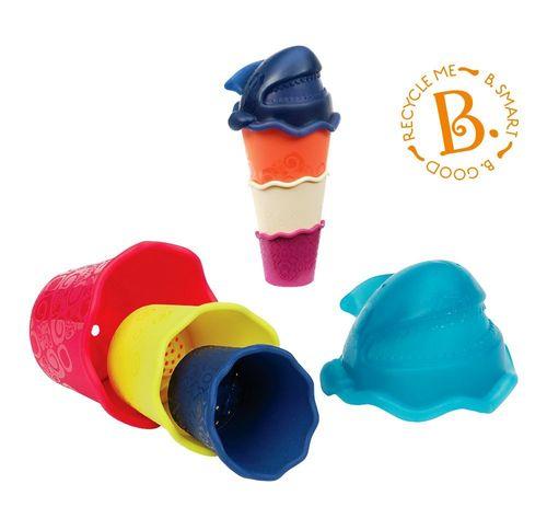 ★衛立兒生活館★美國【B.Toys】鯊魚杯杯(海洋藍/海軍藍)