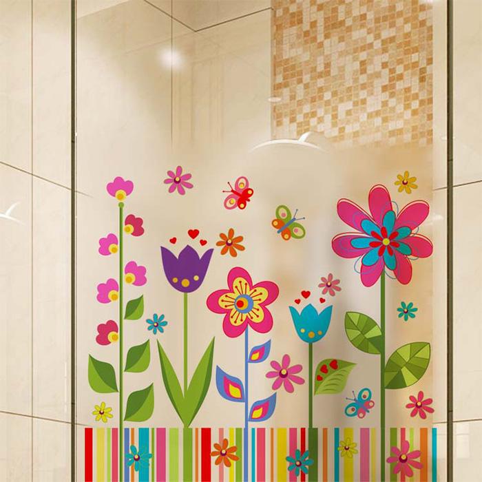 壁貼 卡通花卉 居家裝飾牆壁貼紙【YV6677】快樂生活網