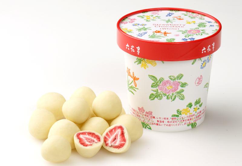 六花亭 - 草莓白巧克力