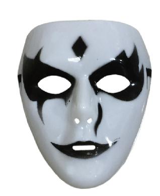 X射線【W430213】鬼步舞白色面具,萬聖節/派對/道具/cosplay/表演/戰士/藝妓/尾牙/搞怪/骷髏/頭套/妖怪/死神/化妝舞會