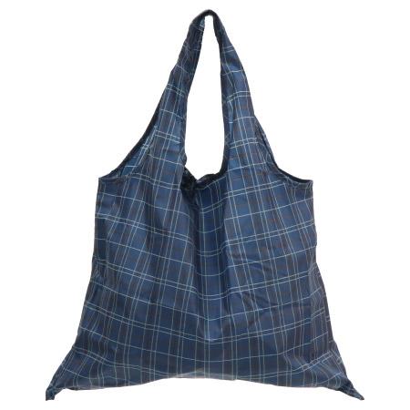 多way造型環保提袋 藍格紋