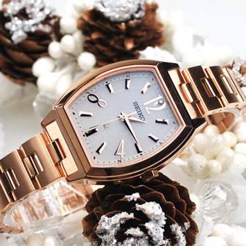 【SEIKO女錶】LUKIA 林依晨代言系列 Radio Wave 璀璨太陽能電波真鑽腕錶-白/玫塊金 3B51-0AM0K(722013)