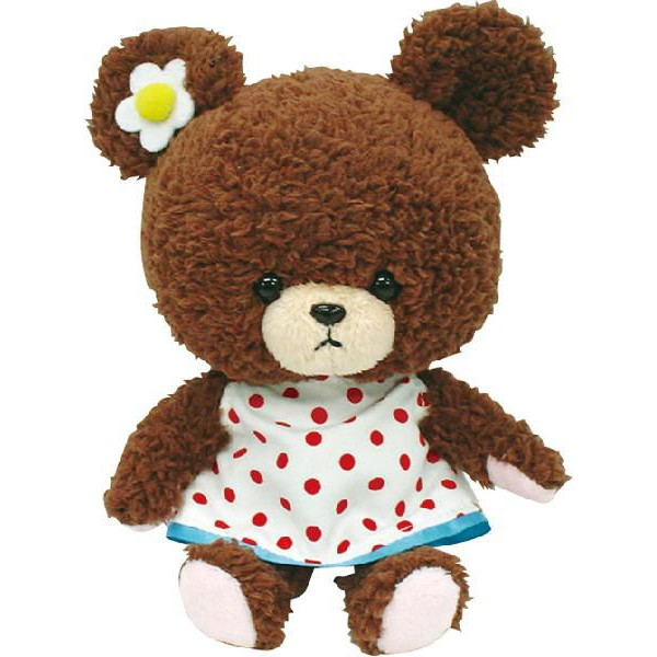 【真愛日本】15072800053軟絨沙包手玉娃-圓點裙  迪士尼 大學熊 UniBEARsit  擺飾 收藏 正品