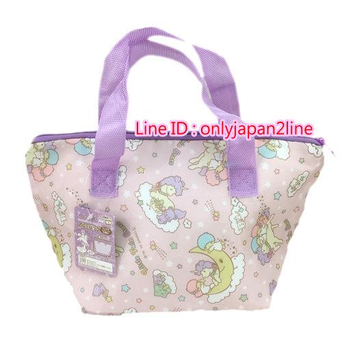 【真愛日本】16100700008保冷保溫便當袋-雙子星   三麗鷗家族 Kikilala 雙子星  手提袋 造型提袋  便當袋 正品