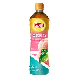 立頓英式紅茶蜜桃口味535ml-4瓶【合迷雅好物商城】
