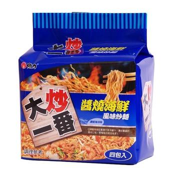 維力大炒一番泡麵85g(4入/袋)-醬燒海鮮【合迷雅好物商城】