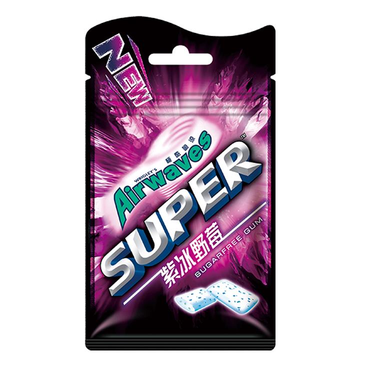 Airwaves口香糖袋裝28g-紫冰野莓--單包【合迷雅好物商城】
