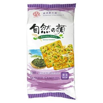 中祥自然之顏紫菜蘇打餅獨享包80g【合迷雅好物商城】