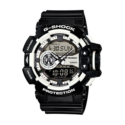 CASIO G-SHOCK GA-400-1A新式街頭流行腕錶/52mm