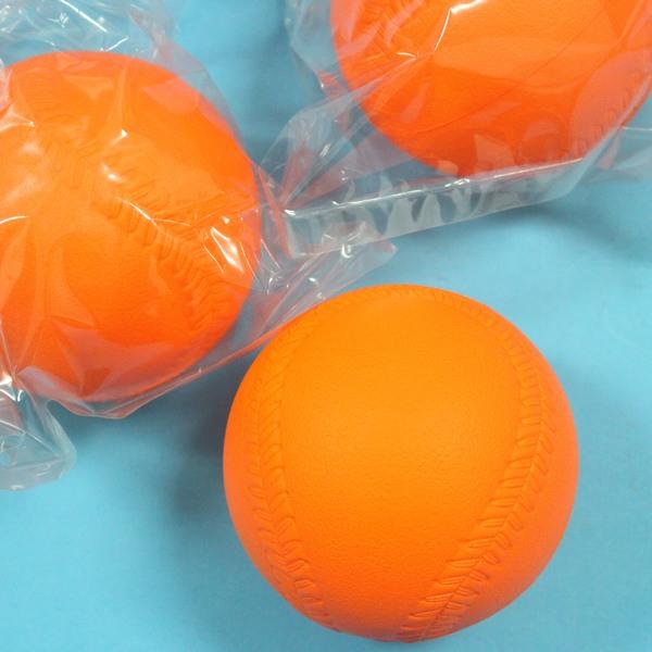 樂樂棒球 橘色低彈跳標準比賽專用球 直徑9cm MIT製/一個入{定80}