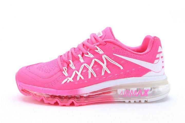 Nike Air Max 2015 全掌氣墊 白粉紅 女鞋