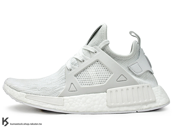 [26.5cm] 2016 限量登場 adidas ORIGINALS NMD XR1 PK 全白 灰白 雪花 BOOST 中底 PRIMEKNIT 鞋面 (BB1967) !