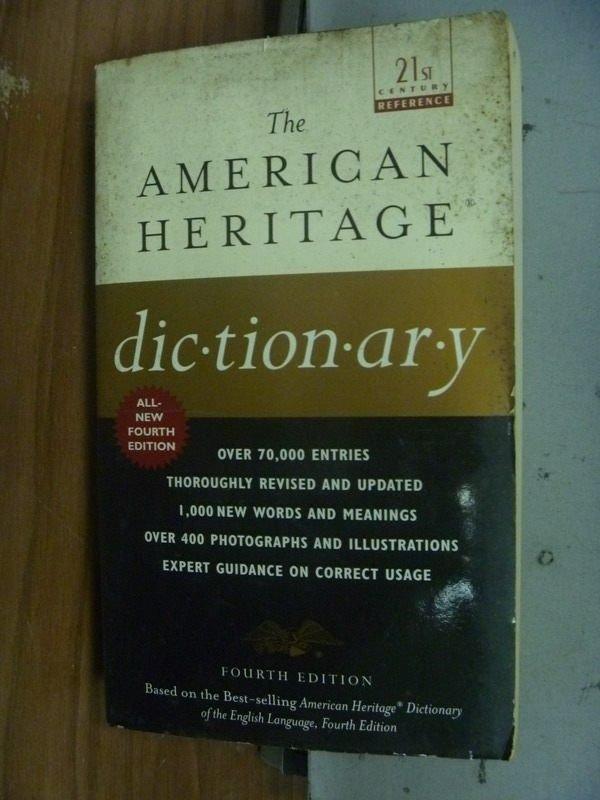 【書寶二手書T9/字典_JSF】The American Heritage Dictionary_2001年