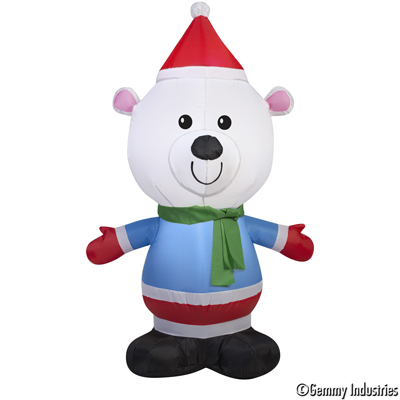 X射線【X027892】107cm充氣小熊,聖誕佈置/充氣擺飾好收納/聖誕充氣/佈置/開幕/會場佈置/打卡