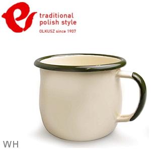 Emalia Olkusz 波蘭百年琺瑯杯/牛奶杯/琺瑯馬克杯250ml TPS 米白 WH