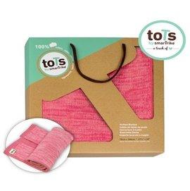 【淘氣寶寶】【英國 smar Trike - toTs】柔棉 針織 萬用毯 (粉色) 【公司貨】