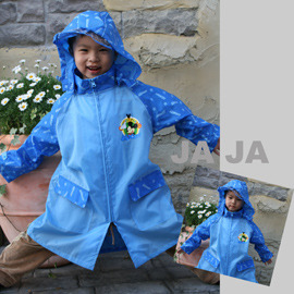 ●Rainbooboo● 藍米奇拉鍊式兒童風雨衣【C1001】