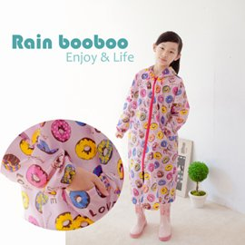 ●Rain booboo● 甜甜圈 無毒親子雨衣 / 兒童雨衣105-150CM【 G1009】