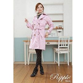 ◎JAJA BABY◎日本風行 時尚風衣 小資OL 雙排扣 防水/透氣機能性 典雅風衣修身款